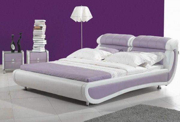 Modern purple bedroom design from interior design blog Bedroom