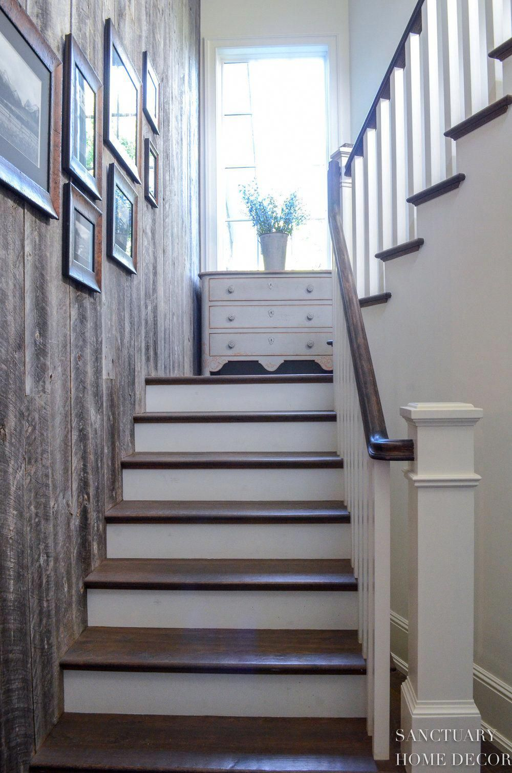 reclaimed barn wood wall staircase design on wall paneling id=85612
