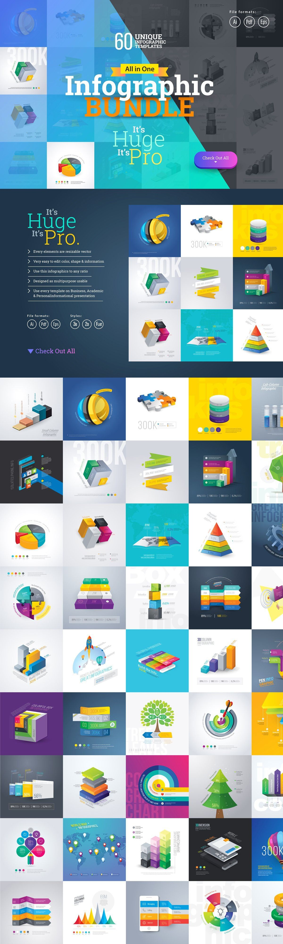 Download Most Use Essential Infographic Pack in 2020 | Infographic ...