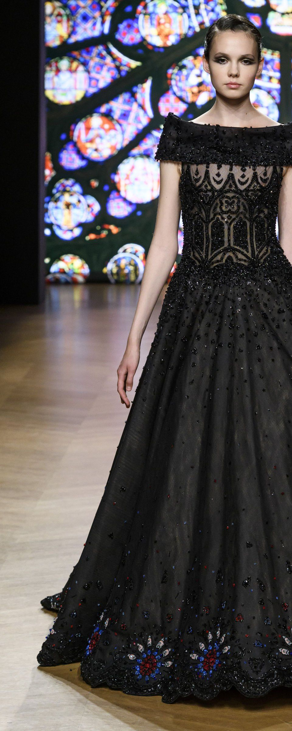 Lace dress bell sleeves june 2019 Tony Ward Fallwinter   Couture  Gowns  Pinterest