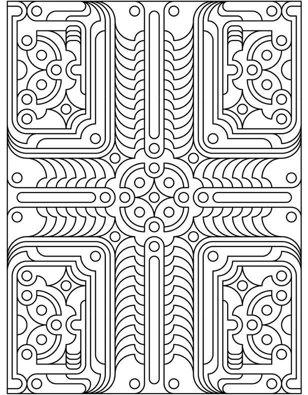 Deco Tech Geometric | Coloring pages | Pinterest | Ausmalbilder ...