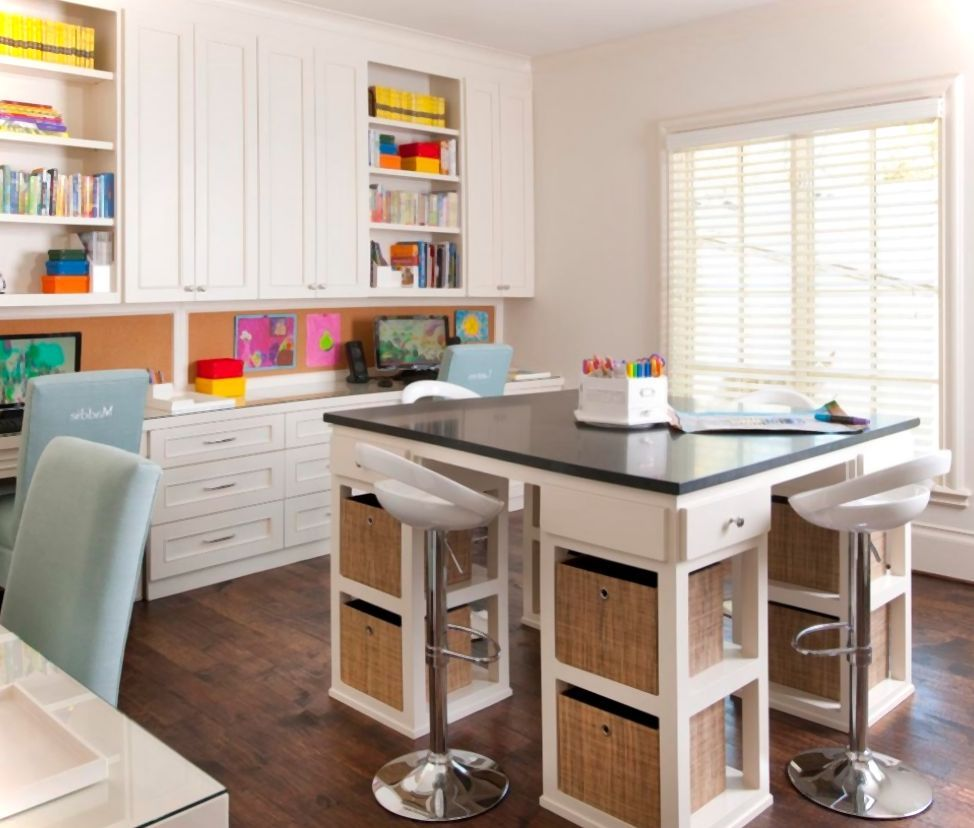 Table And Storage Craft Room Design Ikea Crafts Small Craft Rooms