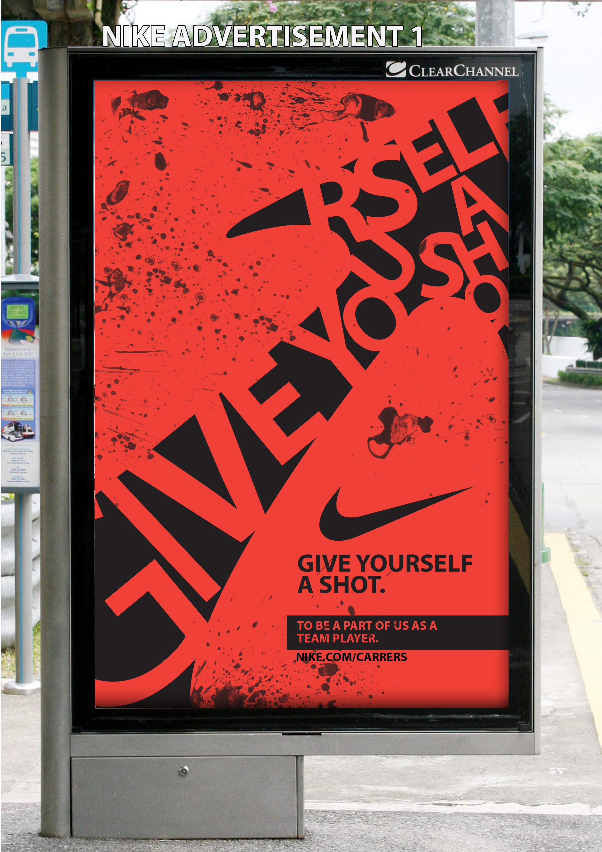 Simplificar directorio satélite  An advertising campaign to promote recruitment for Nike - Bus-Stop Advert |  Creative graphics, Stop ad, Advertising