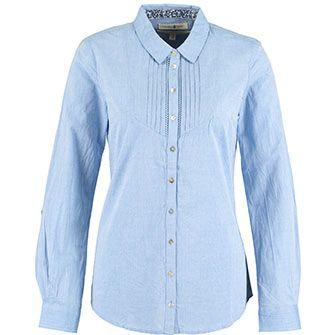 7df3c1110d Beacan Cove Blue Chambray Pintuck Shirt