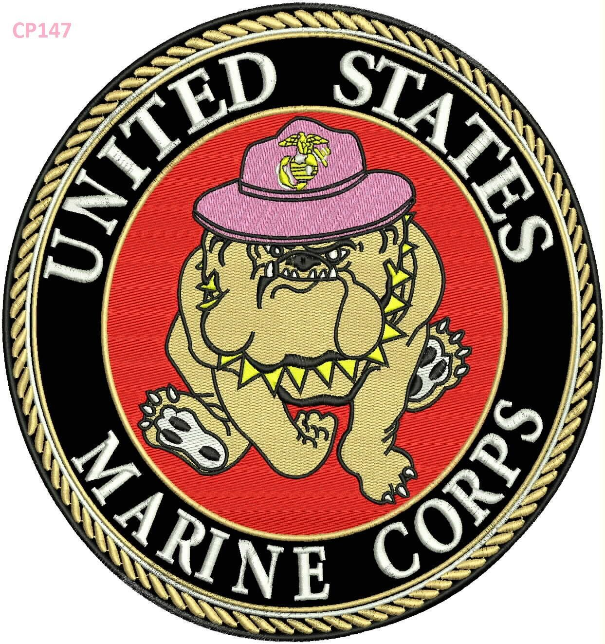 United States Marine Corps Bull Dog In Hat Patch For Vest Jacket Embroidered Patches For Jacket Ve Hat Patches United States Marine Corps United States Marine
