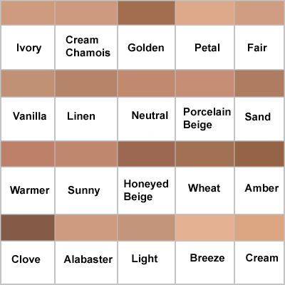 Clinique Superbalanced Colour Chart