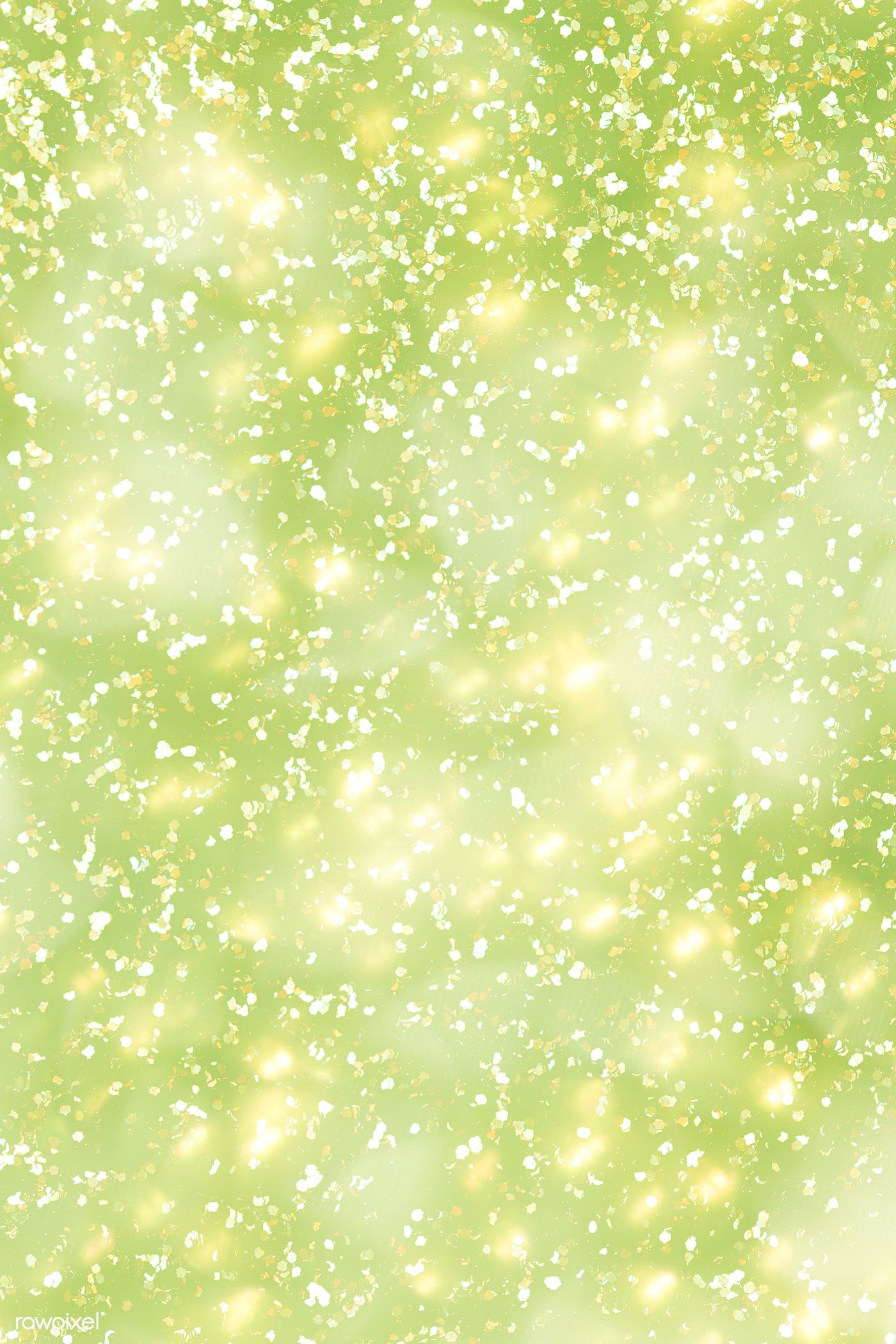 Yellow glitter on a lime green background free image by