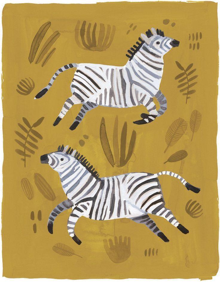 Mustard Yellow Zebra Print - Art Print, Nursery Art, Kid's Room Decor, Zebra Art, Safari Nursery theme, Modern Nursery #mustardyellow
