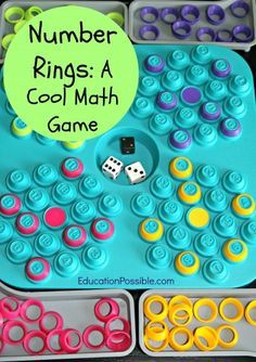 Number rings is a cool math game that can be used to work on addition, subtraction, multiplication, or division math facts