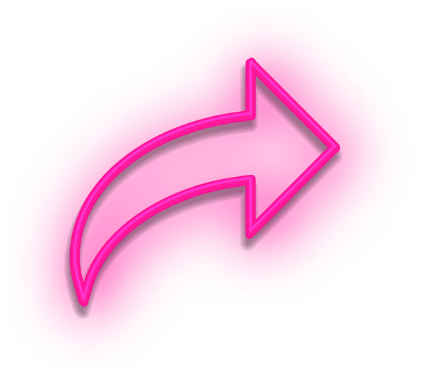 Neon Arrow Sign Pink Png Clipart Pink Neon Sign Arrow Signs Neon Png