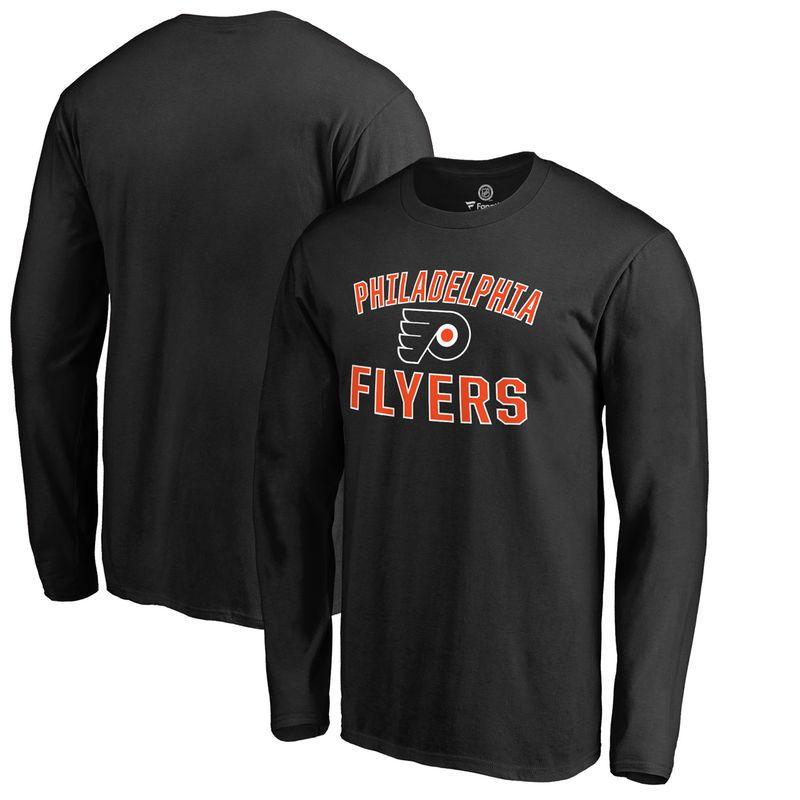 5a7b579dbb86e Philadelphia Flyers Victory Arch Long Sleeve T-Shirt - Black
