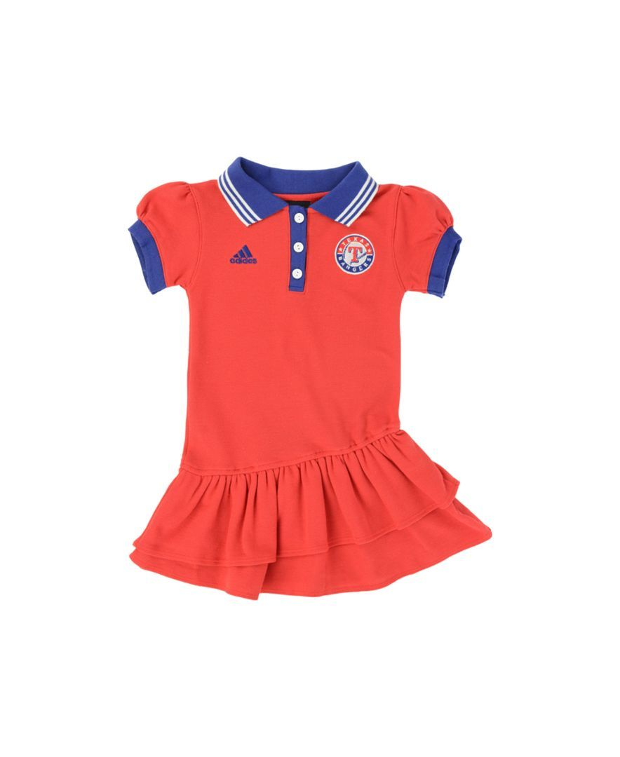 new arrival 84c2f d1c1b adidas Toddler Girls' Puff-Sleeve Texas Rangers Polo Dress ...