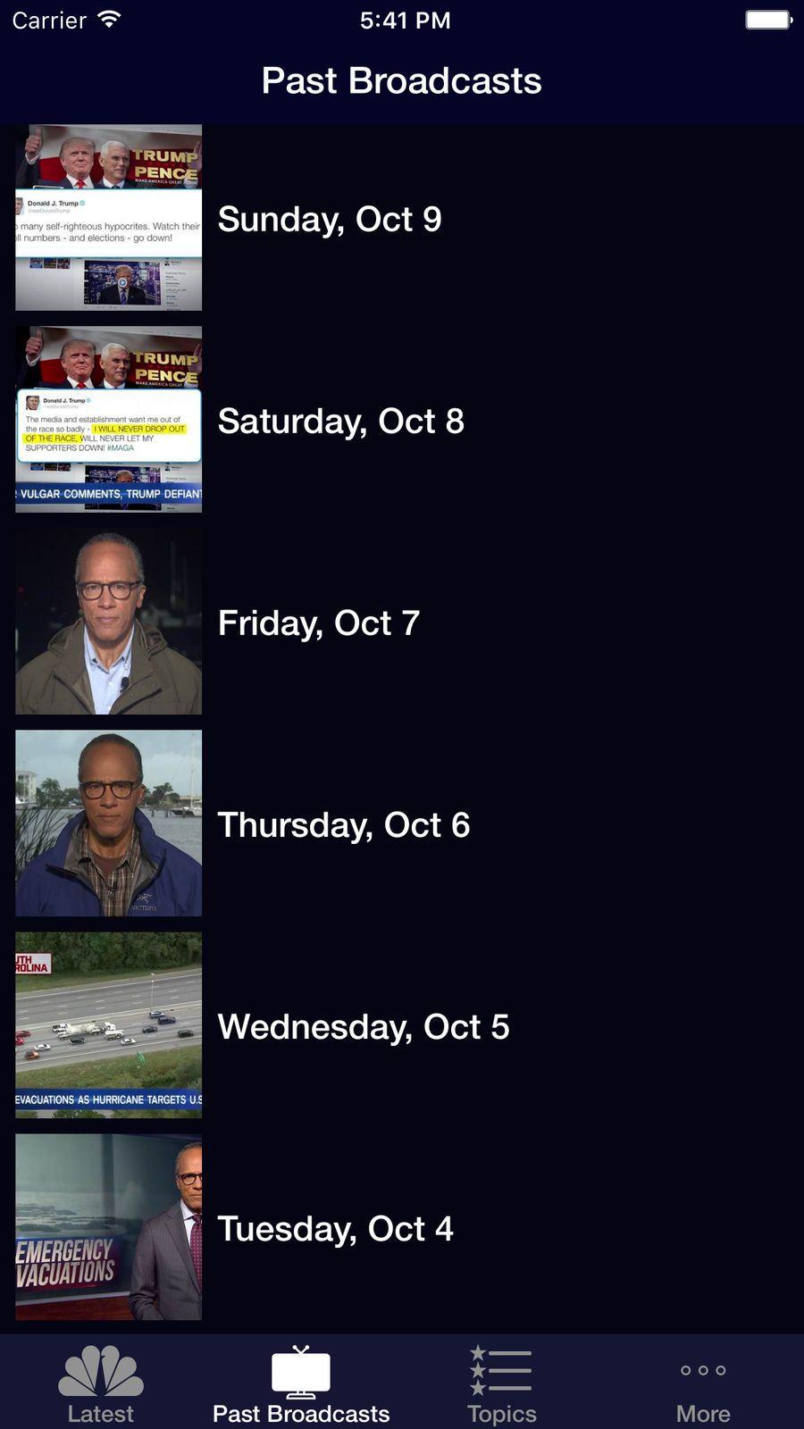 NBC Nightly News NetworkingSocialappsios Nbc nightly