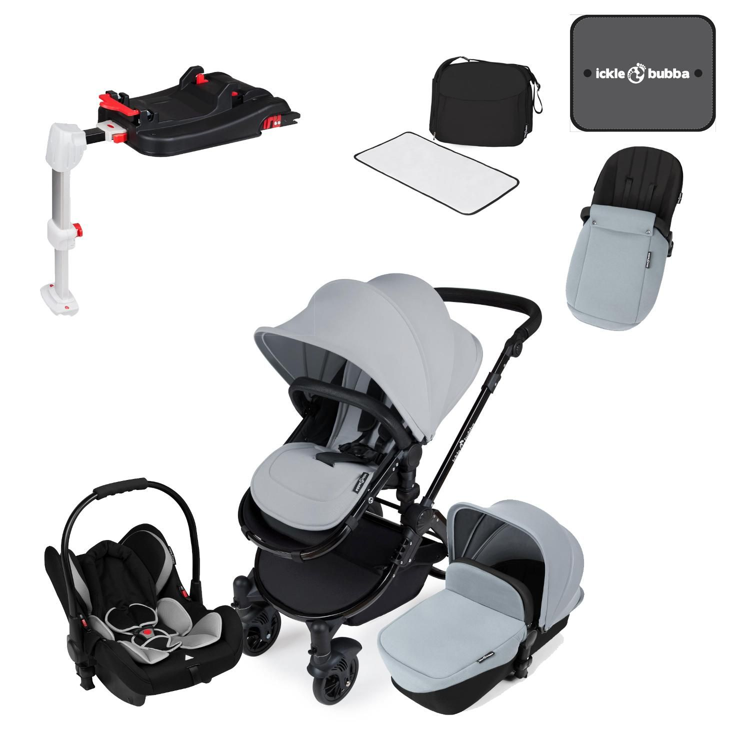 Ickle Bubba Stomp V3 All In One Travel System With Isofix Base In  # Muebles Ros Bubua