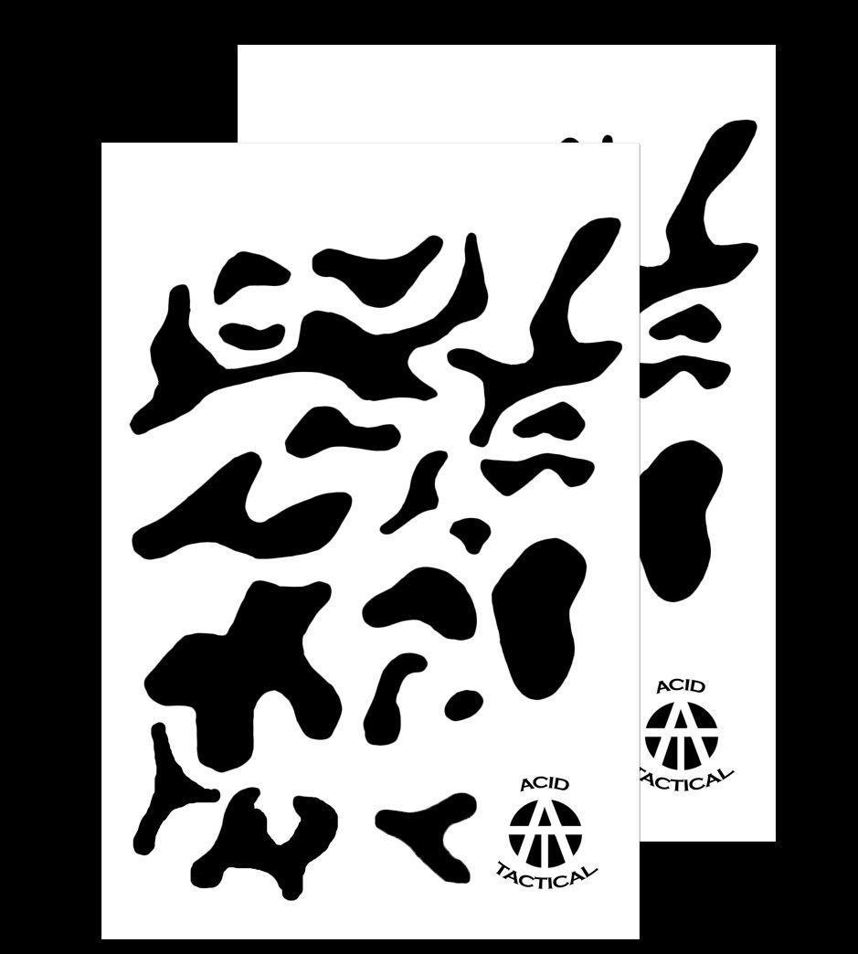 Details About 2pack Multicam Vinyl Airbrush Stencils 10