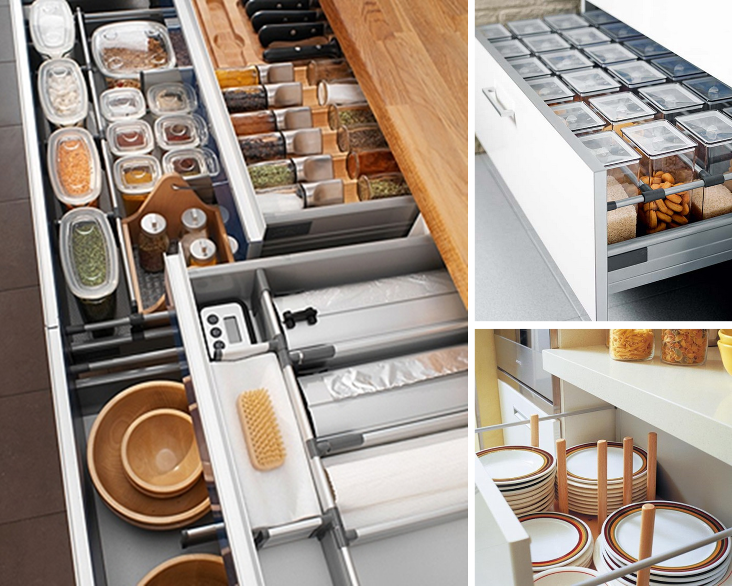 7 ideas para poner en orden la cocina cajones ideas for Organizar cajones cocina