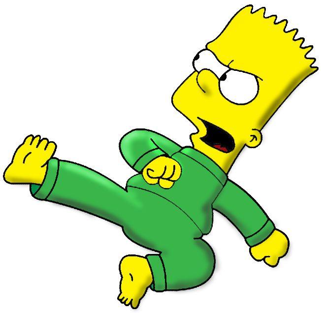 Bart simpson does a karate kick simpsons 2 bart simpson karate kick the simpsons - Marge simpson et bart ...