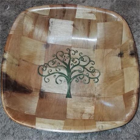 YGGDRASIL Norse Viking Tree Of Life Engraved Hand Painted NATURAL Wooden  Bowlu2026