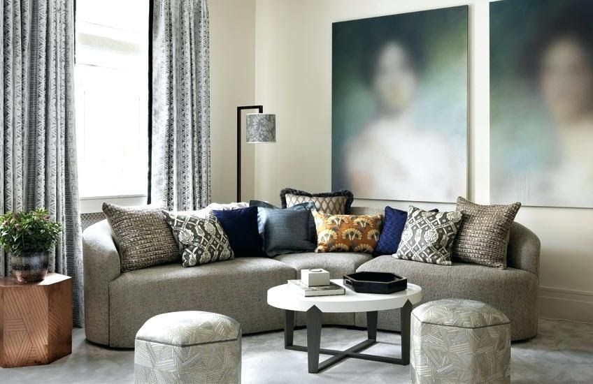 How To Style Your Sofa Cushions Eclectic Cushion Arrangement  25 Grey Living Roo... - #Arrangement #Cushion #Cushions #Eclectic #Grey #Living #Roo #Sofa #Style