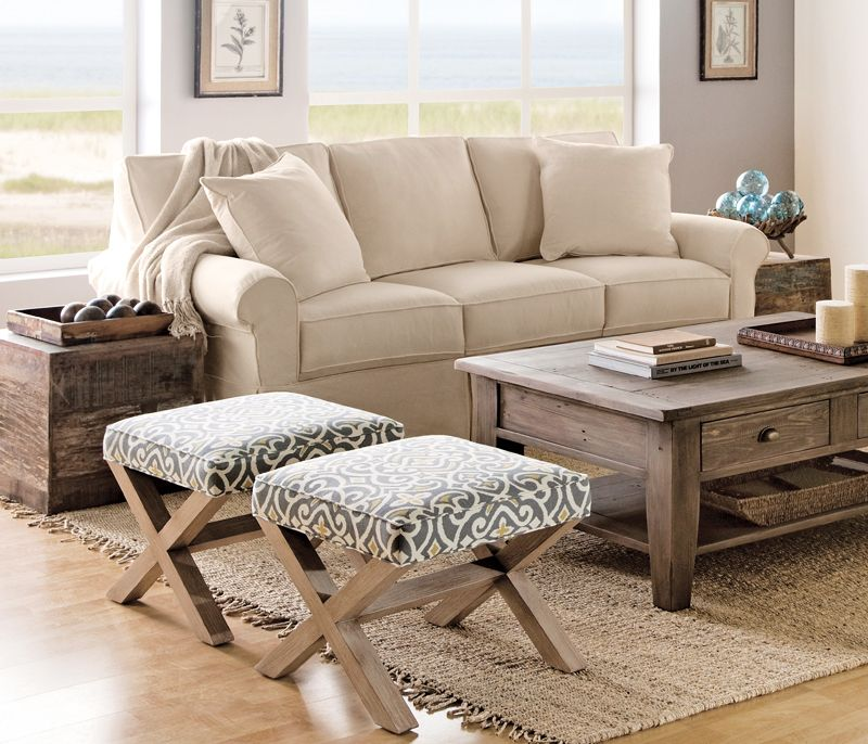 arrangement in the new house? I like the idea of ottomans as ...
