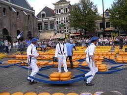 Mercado De Quesos En Alkmaar Holanda Holanda Queso