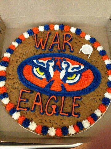 Great American Cookie Company Locust Grove GAAuburn Tiger Eyes Cake