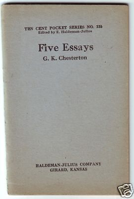 five essays by g k chesterton little blue book no  five essays by g k chesterton little blue book no 235 1921