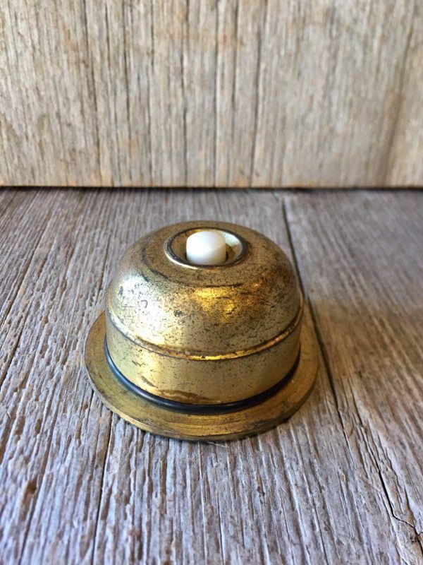 1930 S 40 S ヘヴィーブラス シャビーシック 陶器 呼び鈴 ドアブザー