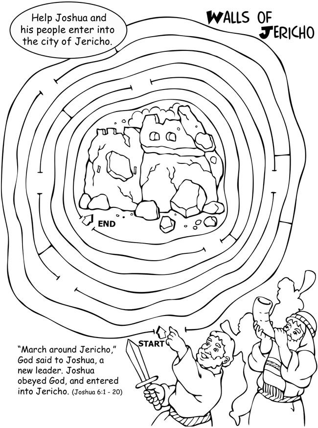 Joshua Walls of Jericho Activity and Coloring Page