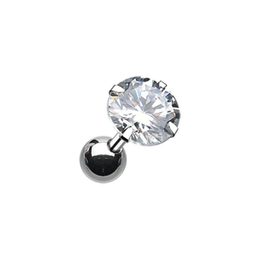 Cz G Set Surgical Steel Cartilage Piercing Earring