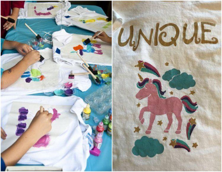 T-Shirt bemalen und selbst bedrucken - 22 Ideen mit