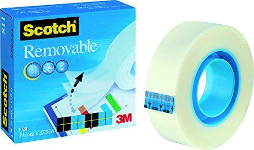 Scotch Removable Magic Tape 19mm x 33m REF 8111933 Scotch https://www.amazon.co.uk/dp/B004QMAE36/ref=cm_sw_r_pi_dp_x_bSamybGAD9K1A