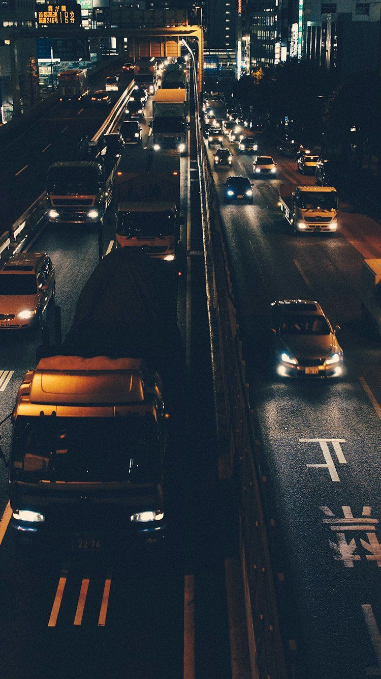 Street Car Japan Night Wallpaper Hd Iphone Coole
