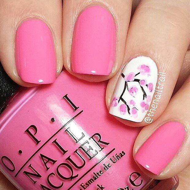 80 Nail Designs for Short Nails | Short nails, Simple nail art ...