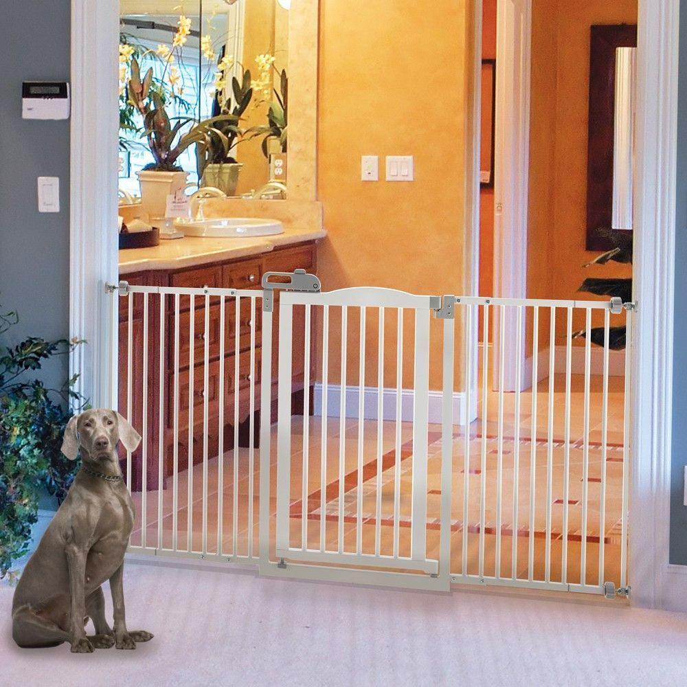 Extra Wide Tall One Touch Decor Pet Gate