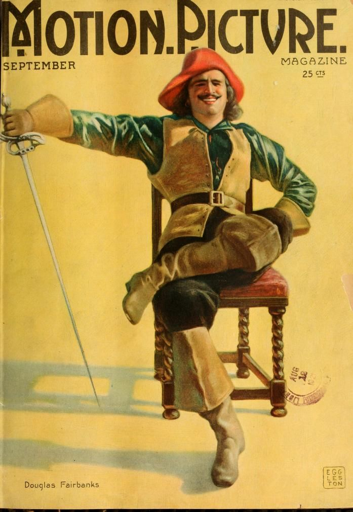Douglas Fairbanks on the cover of Motion Picture magazine