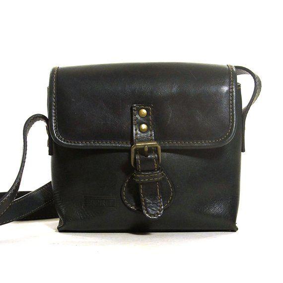 277a6c572 Leather Crossbody Bag Vintage Small ESPRIT Purse with Long Adjustable  Shoulder Strap