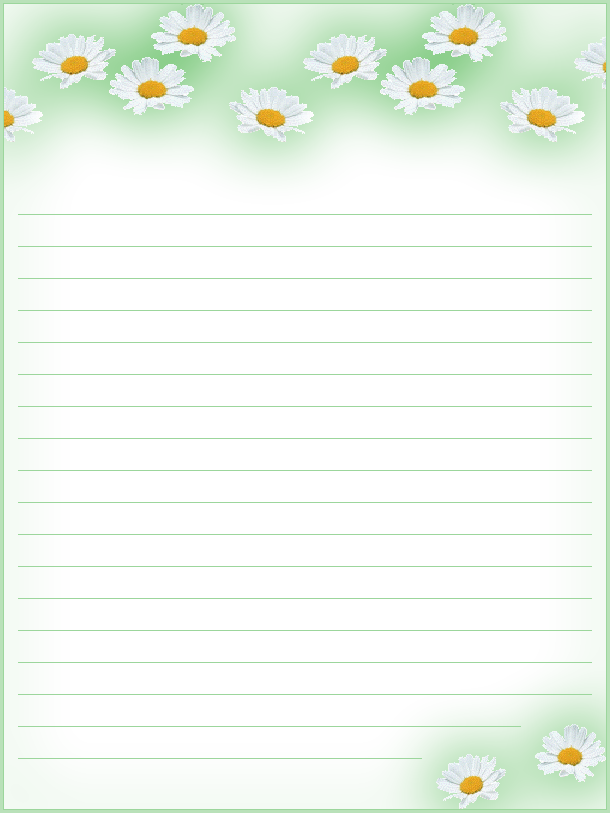FREE Printable Floral Lined Stationery Money Savers at Kid – Free Lined Stationery