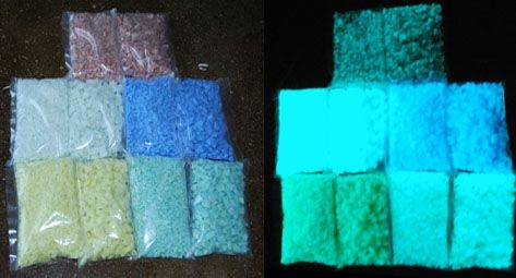 Glow In The Dark Glass Aggregate Rocks Sand