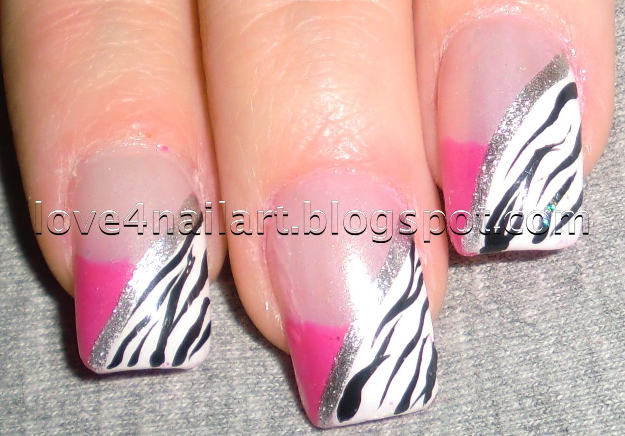 Zebra Nail Designs | Another HOT pink zebra nail design! | Nails ...