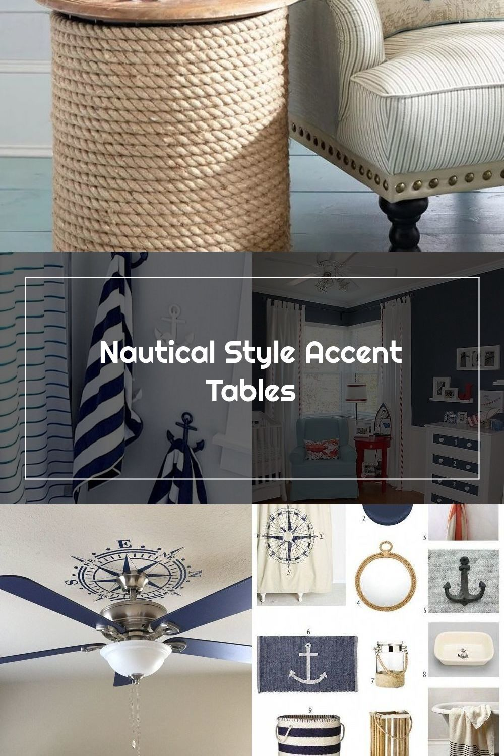 Nautical Accent Tables Fill The Small Spaces In Coastal Interior