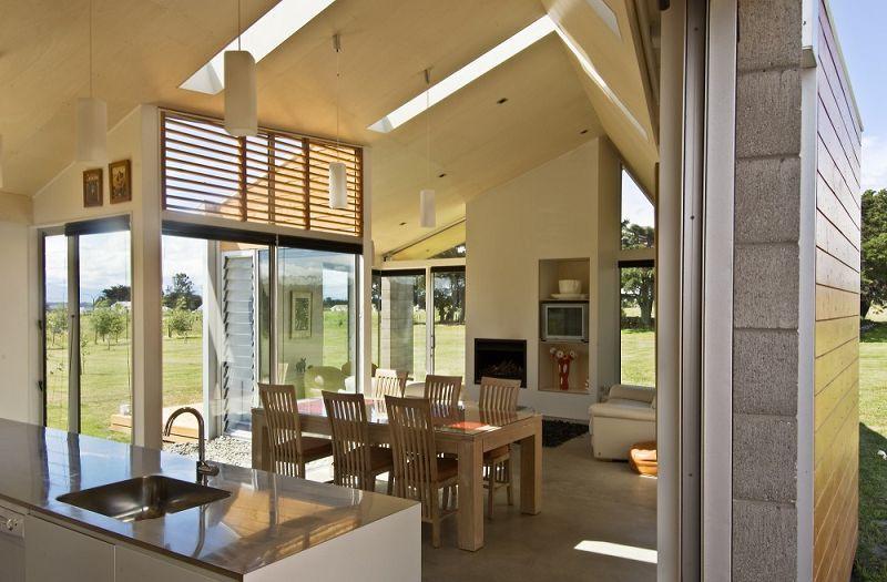 vivienda es una casa familiar diseada por arquitectos de bonnifait giesen en un pueblo de regin de wairarapa nueva