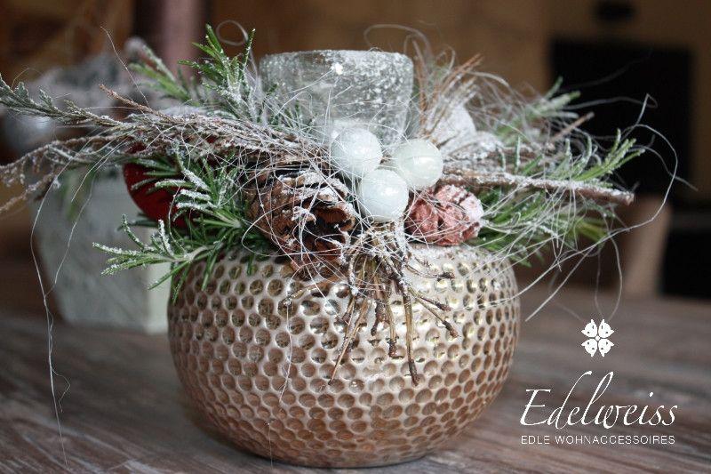 Adventsgesteck Weihnachten Edel von Edelweiss-deko auf DaWanda.com ...