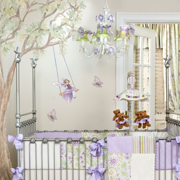 Purple Fairies Wall Decal Set Free Shipping On Crib Bedding Sets