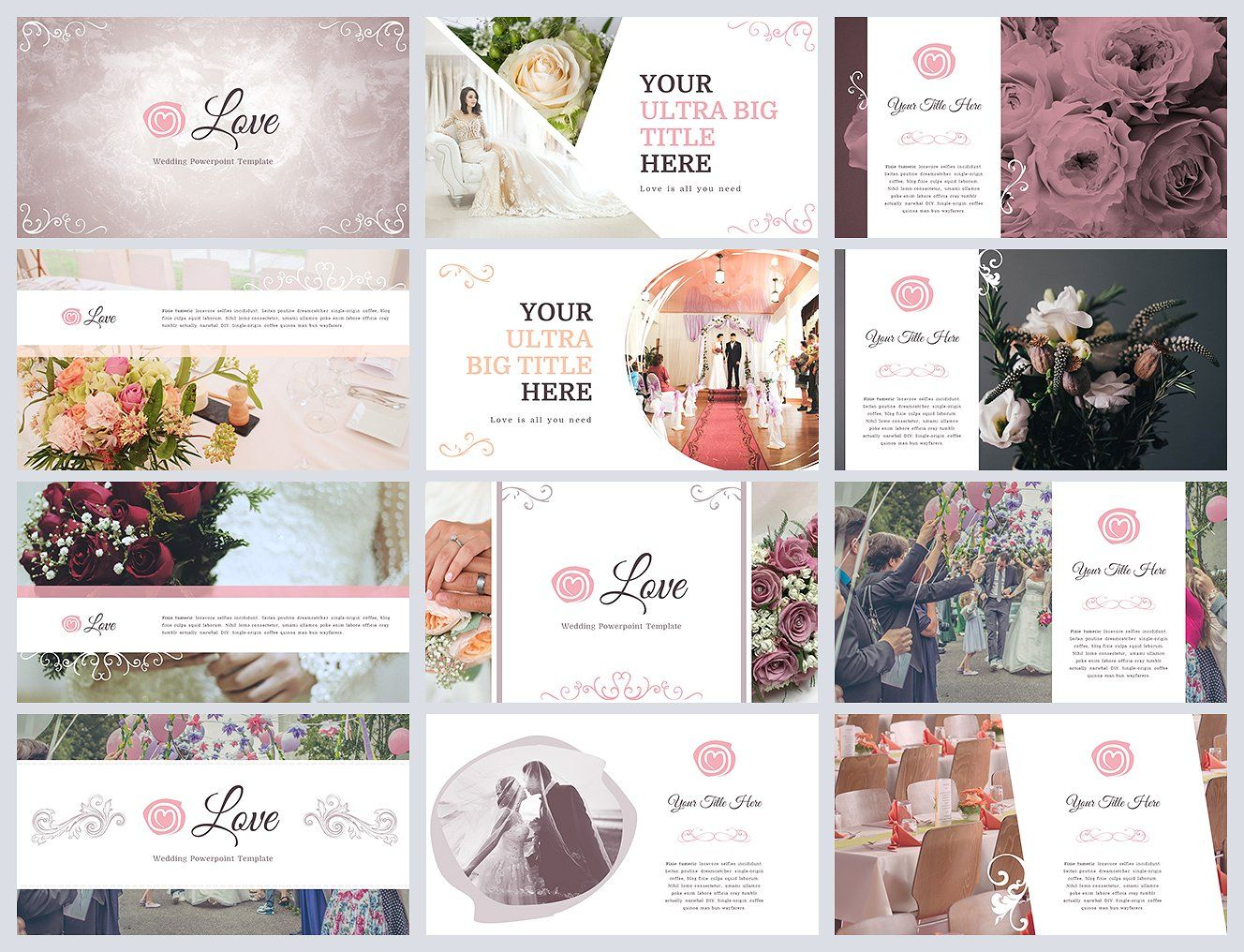 Love Wedding Powerpoint Template By Reshapely On