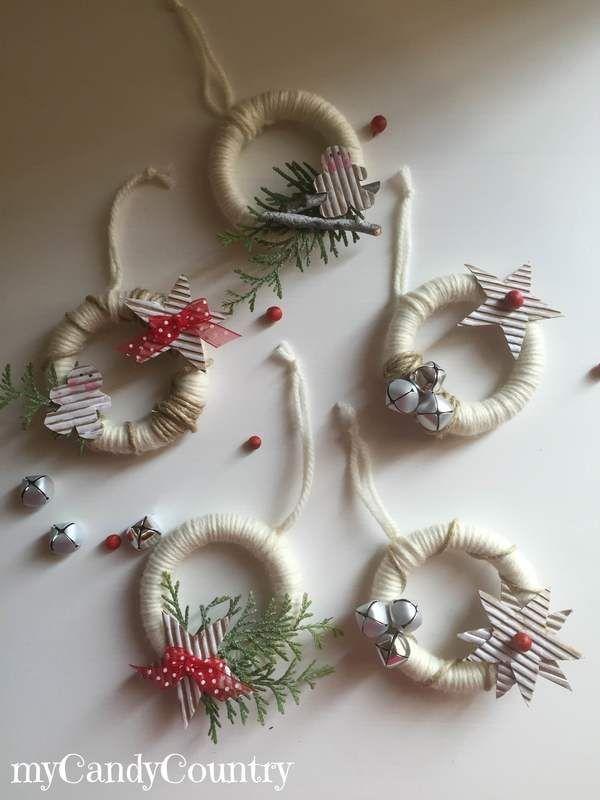 Photo of White Christmas Together-Ghirlanda natalizia con anelli delle tende home decor …, #anelli …