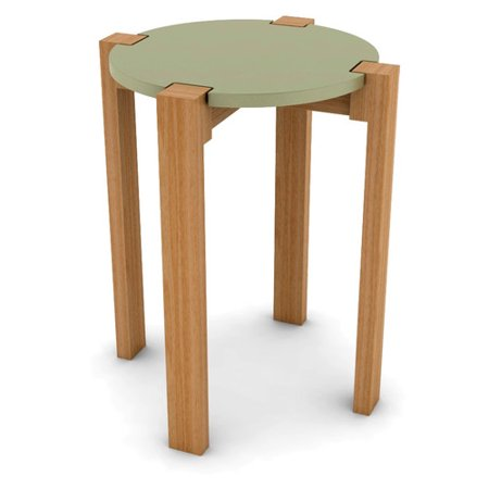 Patio Garden Wood Stool Stool Blue Side Table