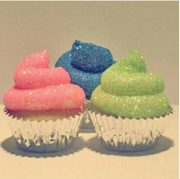 how to make glitter bomb cupcakes