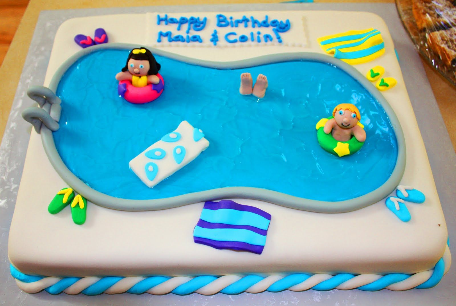 Pool party cakes for girls we decided to have a pool party pool party cakes for girls we decided to have a pool party sciox Choice Image