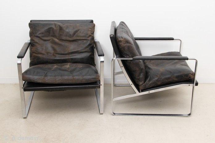 Paire de fauteuils FK6720 par Fabricius & Kastholm. Ed. Kill International, 1968